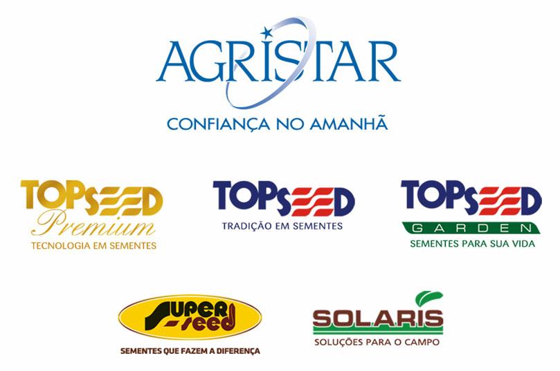 A Agristar reposiciona suas marcas e passa a contar       com 5 linhas de produtos: Topseed Premium, Topseed, Topseed       Garden, Superseed e Solaris.