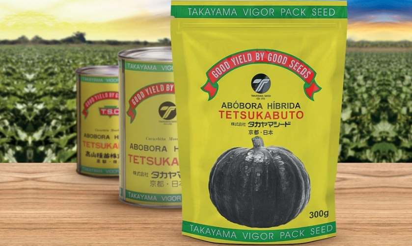 Abóbora Takayama da Topseed Premium ganha nova embalagem
