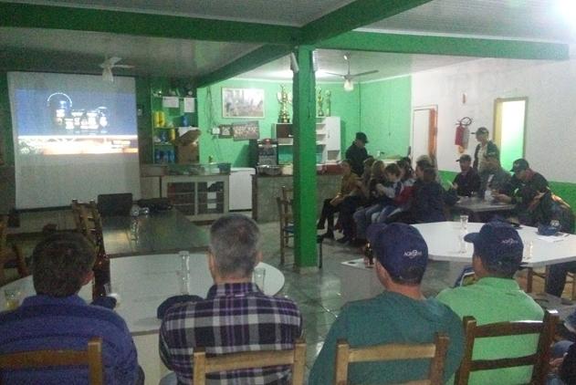 Palestra sobre abóboras em Celso Ramos (SC)