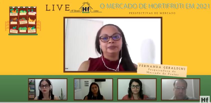 Com apoio da Agristar, live da HF Brasil destaca as tendências do setor hortifruti para 2021