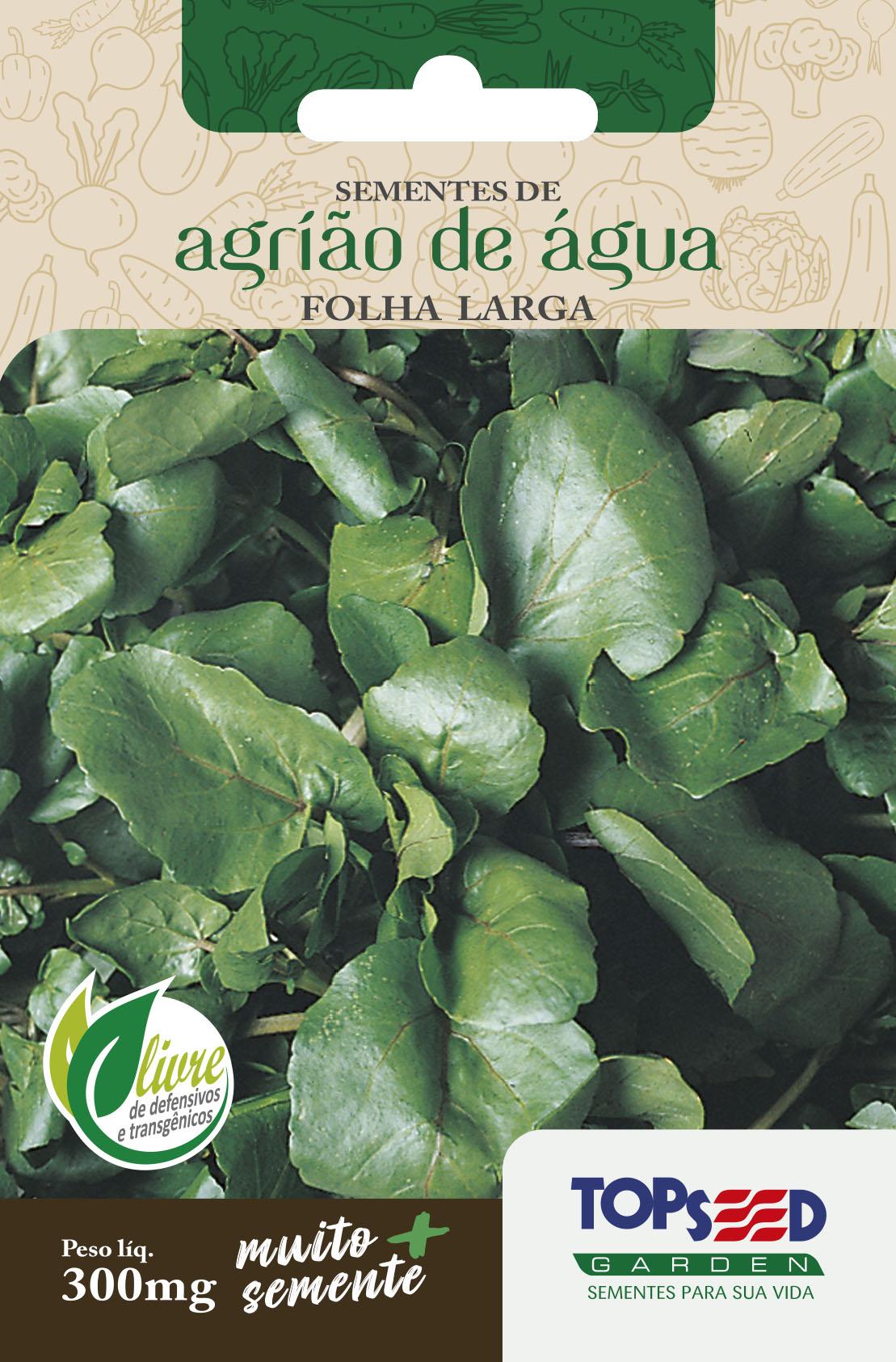 AGRIÃO DE ÁGUA FOLHA LARGA